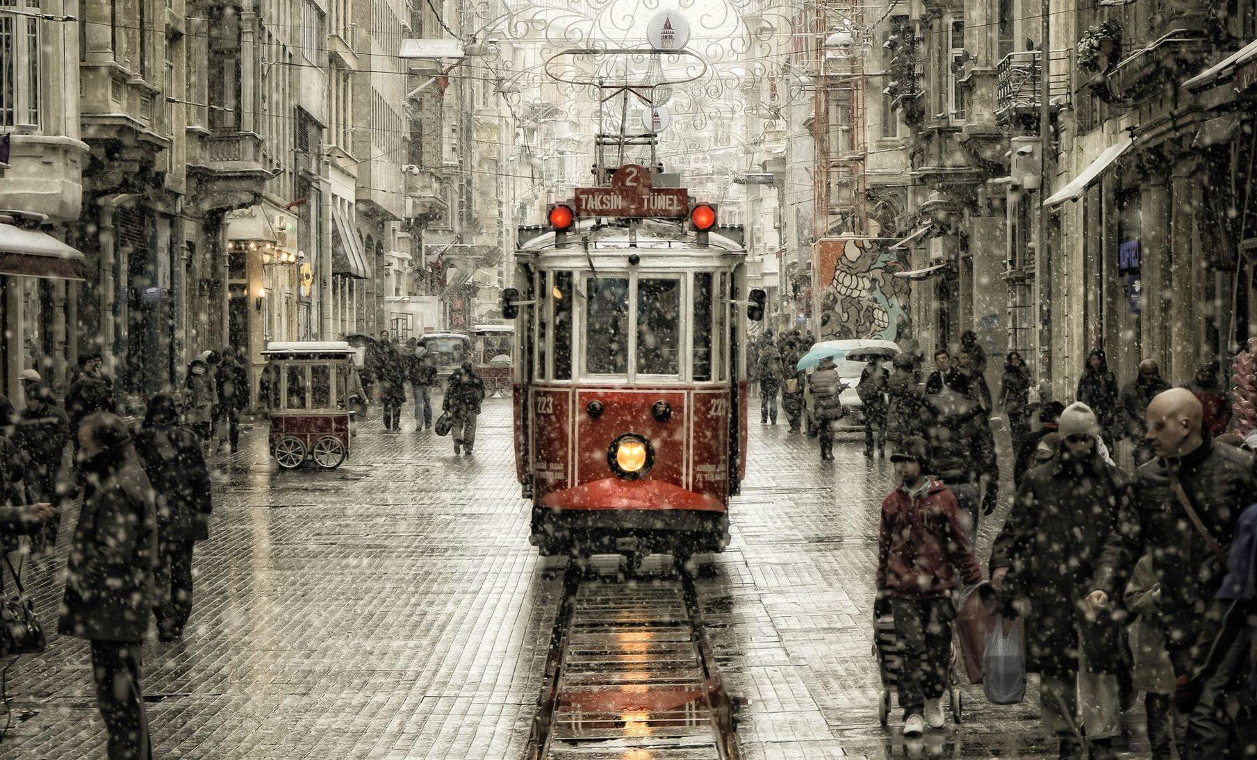 A Nostalcig Street in Beyoglu